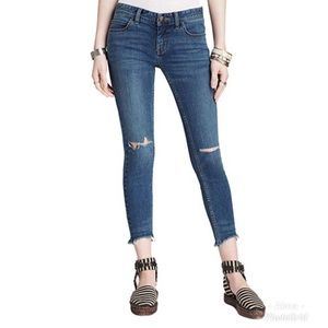 Free people cropped ripped jeans